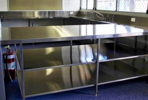 Stainless steel fabrication done for Kitchen